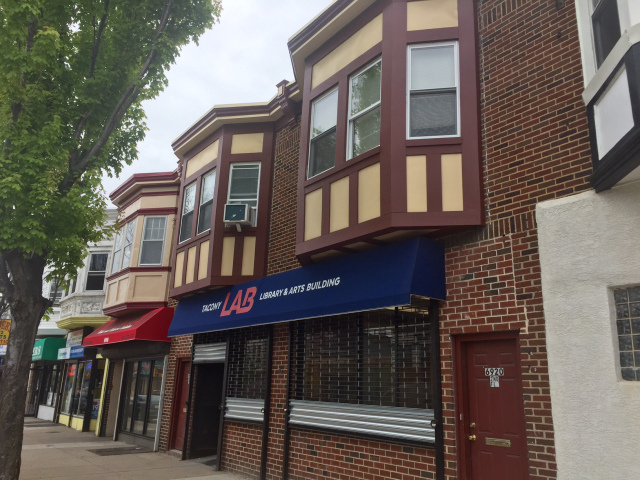 A former hardware store at 6918 Torresdale Avenue will soon be reopened as a library/artist studio.