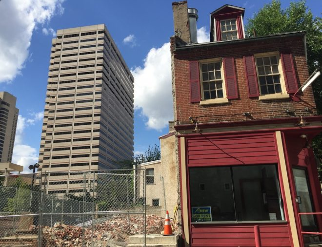 1533-35 Cherry Street. Recent Demolition at Cherry and Mole, a federal period house near the Race Street Meeting House, a National Historic Landmark, and quaint Mole Street | Photo: Oscar Beisert