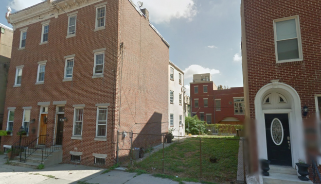 """This vacant lot in the 1900 block of Brown Street is one of eight the city's Land Bank is offering free to developers, in the process advancing Council President Darrell Clarke's workforce housing initiative."" 