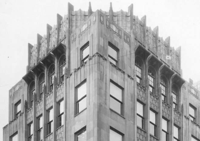 Horn Building Crown Details | Source: City of Philadelphia, Records Department