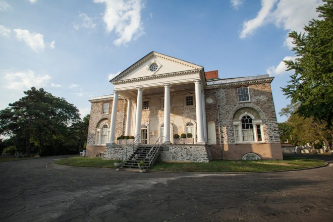 Visitor's during the Hamilton era approaching from the river would have seen the distinctive two-story neoclassical portico facing the Schuylkill.   Photo: Starr