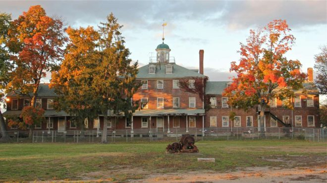 """""""The Lazaretto quarantine station in Tinicum Township is being restored after years of neglect.""""   Photo: Emma Lee, for NewsWorks"""