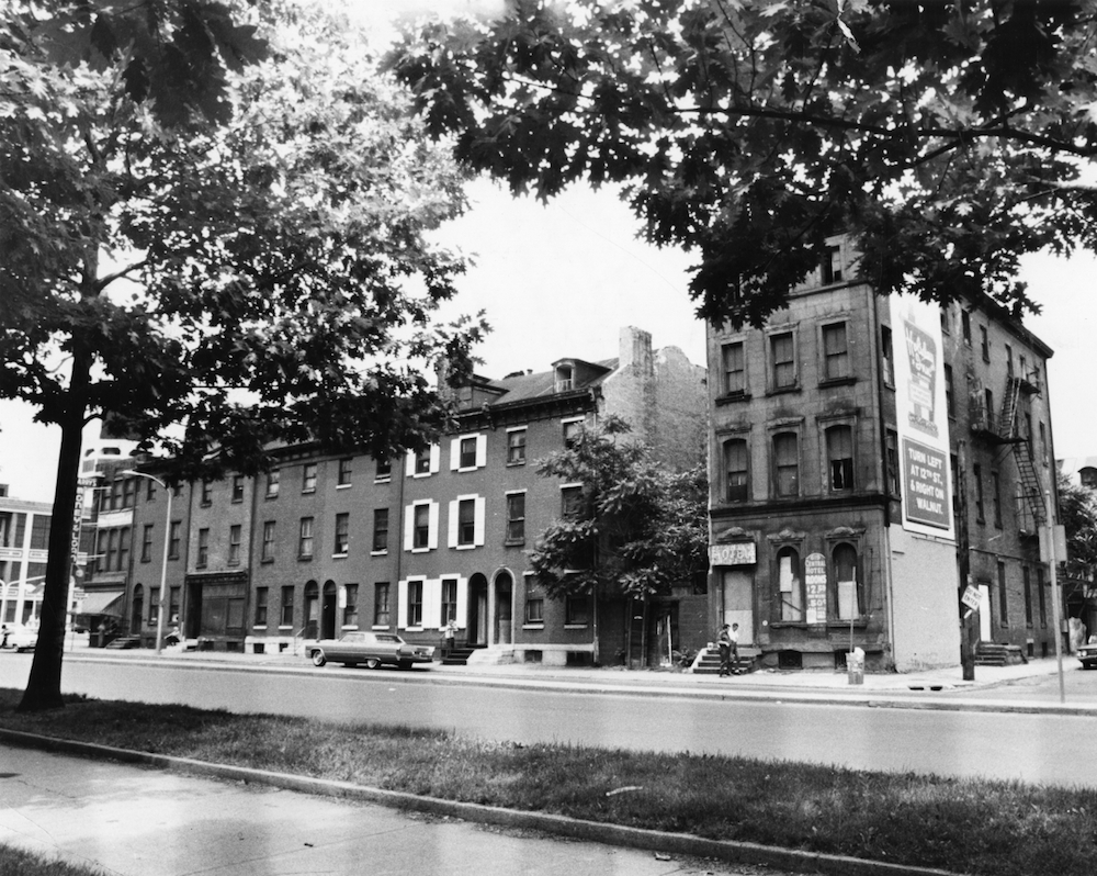 600 Block Vine Street Between Marshall And 7th Streets, 1969. Left To  Right: McGarryu0027s Loan Office, Various Rooming Houses, And The Central Hotel.
