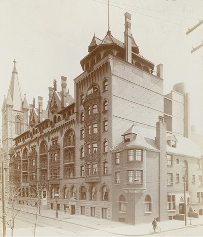 The 2nd Rittenhouse Hotel Towers Above Bedell Mansion In Late 1800s