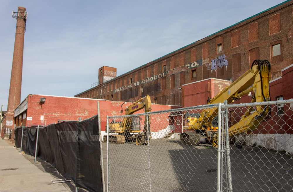 Preparations For The Demolition Of Frankford Chocolate Factory At 2101 Washington Avenue Are Well Underway And Come Less Than A Month After L I Deemed