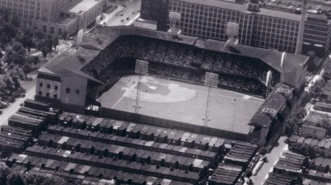In The 1940s Bleacherless Rooftops Along North 20th