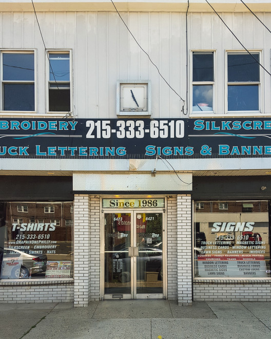 Graphix One Shirts & Signs, 6423 Torresdale Ave. | Photo by Steve Weinik