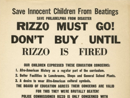 Exploring the Rizzo Boycott of 1967